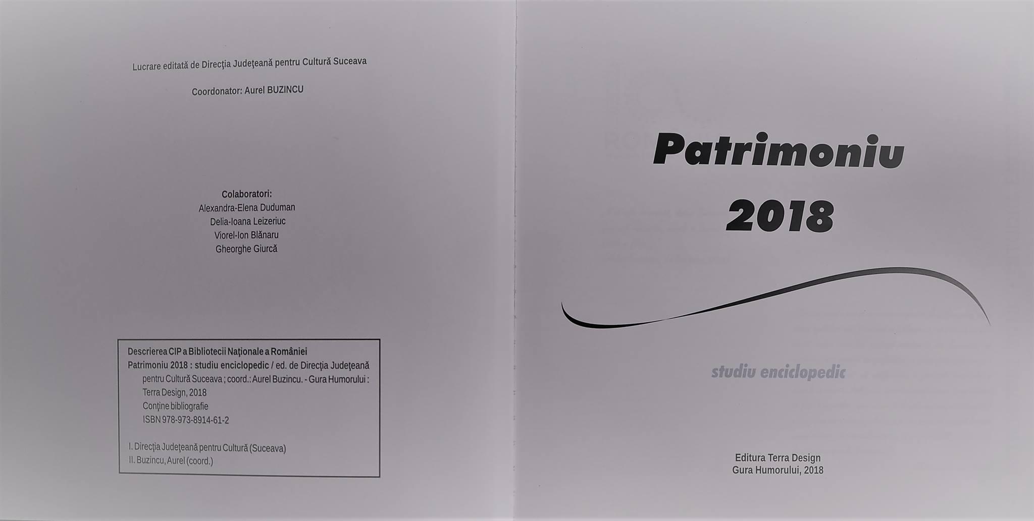 Lucrare editată de Direcția Județeană pentru Cultură Suceava